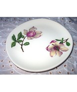 Pink Magnolia Flowers-Bread/Butter Plate-Crooksville Iva-Lur - $10.50