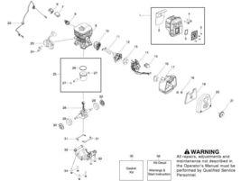 Husqvarna muffler kit # 545111901 fit 125B 125BX 125BVX - $30.99