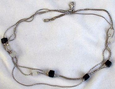 Black white necklace