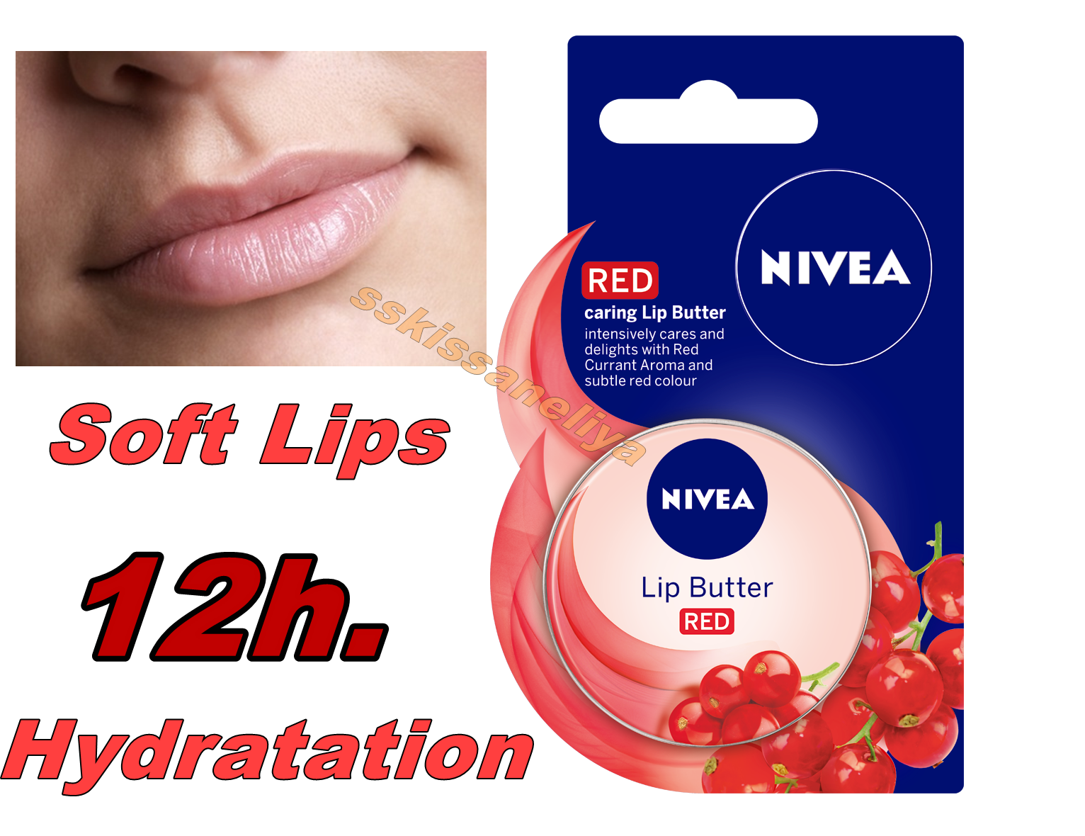 Primary image for NIVEA LIP BUTTER RED  Intensively Cares and Delights Caring Lip Butter 16,7g.