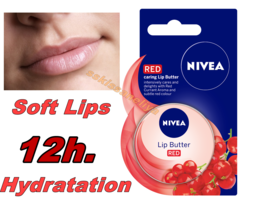 NIVEA LIP BUTTER RED  Intensively Cares and Delights Caring Lip Butter 1... - $5.33