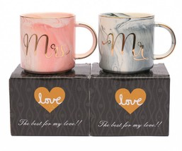 Luspan Mr and Mrs Couples Coffee Mugs - Unique Valentine's Day Gifts For... - $21.88