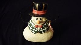 Snowman w/ Candy Cane [CARLTON CARDS] MERRY CHRISTMAS - $12.00
