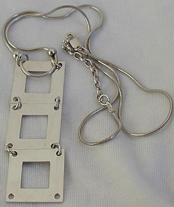 Silver ladder necklace  B