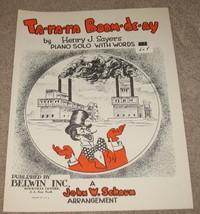 Ta-ra-ra Boom-de-ay Sheet Music - 1949 - piano solo w/ words - $9.95