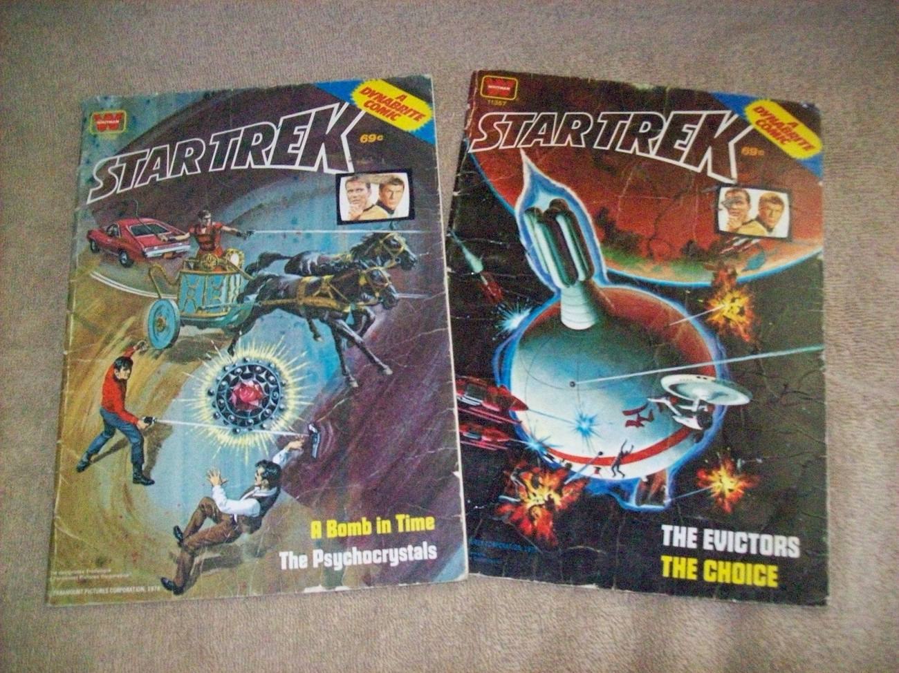 2 Whitman Dynabrite Comic Star Trek 1978  4 Episodes