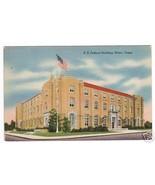US Federal Building Waco Texas 1940s postcard - $3.96