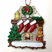 Fireplace Stockings 3 4 5 6 Personalized Christmas Ornament Kit - $14.95