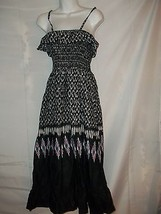 Ladies Size M Uniti Casuals Southwest Style Cotton Dancing Sundress Geom... - $18.80