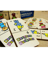 Bananas in Pyjamas Pajamas Wooden Dominoes 28 Pieces Childrens Toy - $29.99