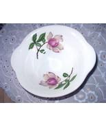 Pink Magnolia Flowers-Lugged Cereal Bowl-Crooksville Vintage - $12.00