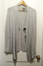 EXPRESS Open Front Cardigan Sweater Silver, Acrylic Wool Blend, M, Pre-owned - $18.69