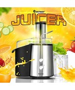 GOCOOL Juice Extractor, 75MM Wide Mouth Stainless Steel Juicer (Black+Si... - $99.97