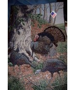 Wildlife Turkey Hanging Tapestry Home Decor Autumn Thanksgiving Made in ... - $18.00