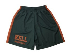 Fit 2 Win Kell Longhorns Mesh Basketball Short Men's Large Gray Orange - $24.74