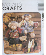 McCalls 8507 Honey Bee Mine Stuffed Bears with Clothes New - $6.95