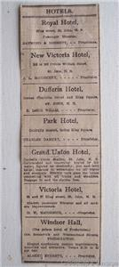 1903 Hotel Hotels List Saint John, New Brunswick Ad