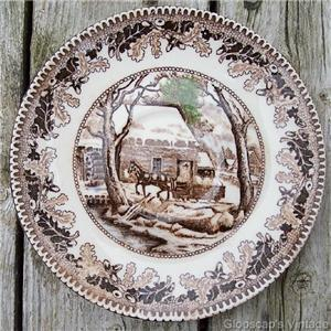 Old Japan Horse Scene Brown Transfer Saucer #JP2004
