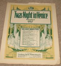 Twas Night in Venice Sheet Music - Barcarolle - Holt    - $9.75
