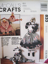 McCalls 833 Faye Wine Cow Chicken Draft Buster Dolls Pattern Unused - $8.95