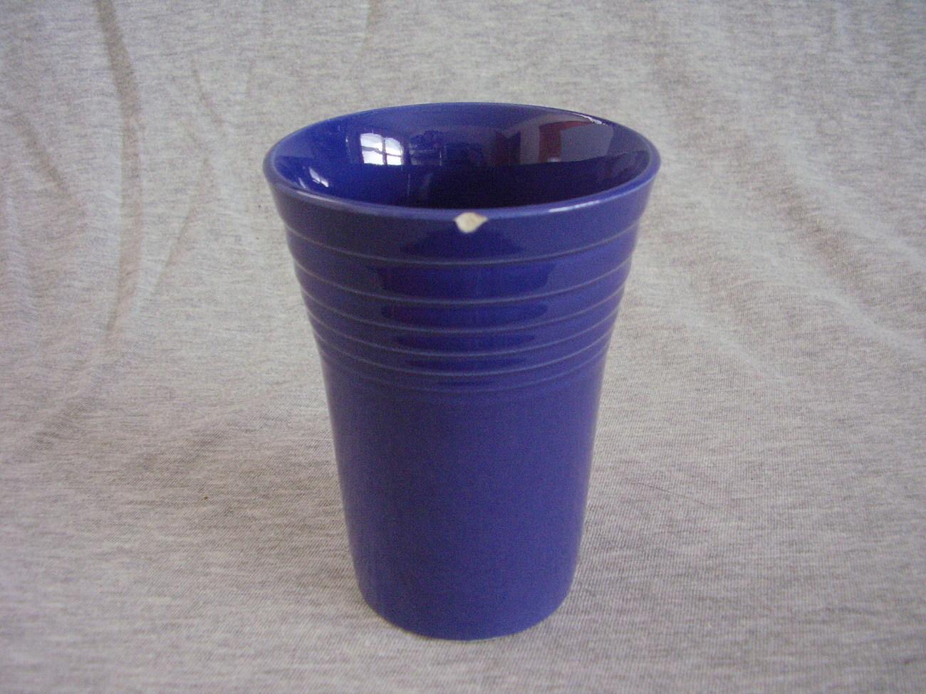 Vintage Fiestaware Cobalt Water Tumbler Fiesta  A