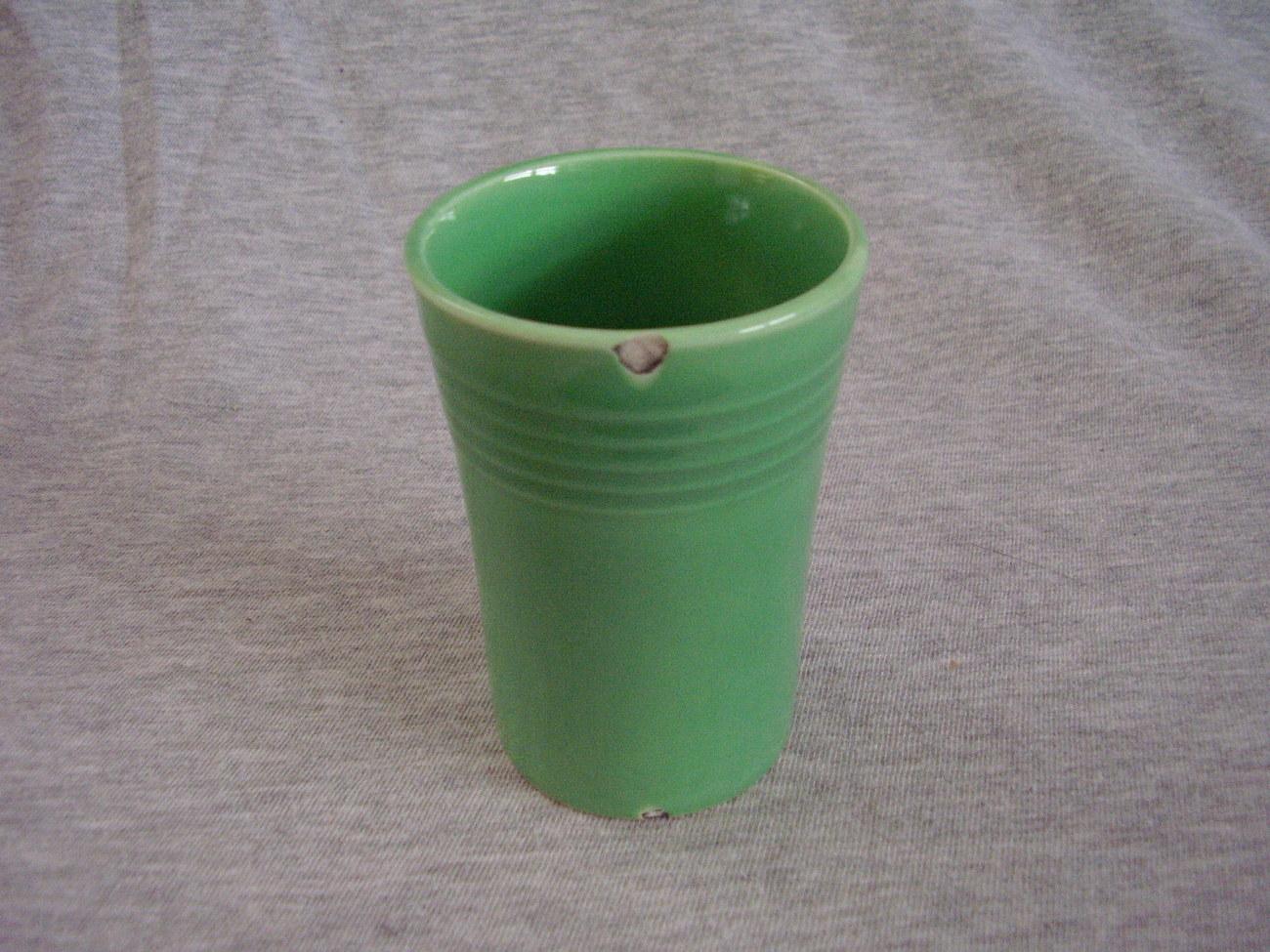 Vintage Fiestaware Original Green Juice Tumbler Fiesta