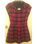HAWKS Geren Ford Urban Outfitters PINK BLACK plaid Mad Men style DRESS N... - $99.99