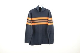 Vintage 90s Abercrombie & Fitch Mens Medium Striped Faded Turtleneck Swe... - $49.45