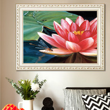 DIY Diamond Painting Red Lotus Flowers 5D Embroidery Diamond Painting  - $16.90