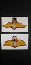 Original 2 RTA Thai Army Parachutist Wings Golden tinsel Handmade Back Pins - $73.69