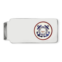 Sterling Silver Rhodium-Plated U.S. Coast Guard Money Clip (Length=52) (... - $70.82