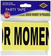 "Senior Moment In Progress Party Tape 3"" x 20' 1/Pkg - $5.55"