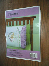 "Herrschners Spring Angel Ruffled Pillowcase Embroidery 20"" x 30""  - $5.89"