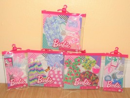 Barbie Clothes Outfits Accessories Set 5 Mermaid Beach Tropical Skating New - $49.99