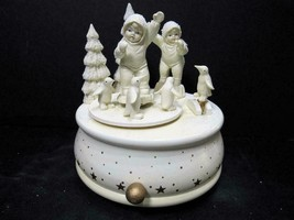 "(B)(BROKE)""PLAYING GAMES IS FUN MUSIC BOX"" Dept 56 Snowbabies CHRISTMAS ... - $9.49"