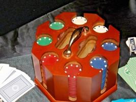 Porker Chips Holder and Card Game AA19-1666 Vintage