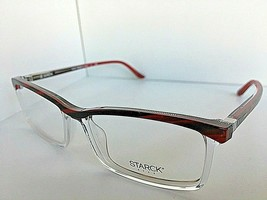 New STARCK Eyes Alain Mikli  SH 3730 003 56mm Clear Red Men's Eyeglasses... - $189.99