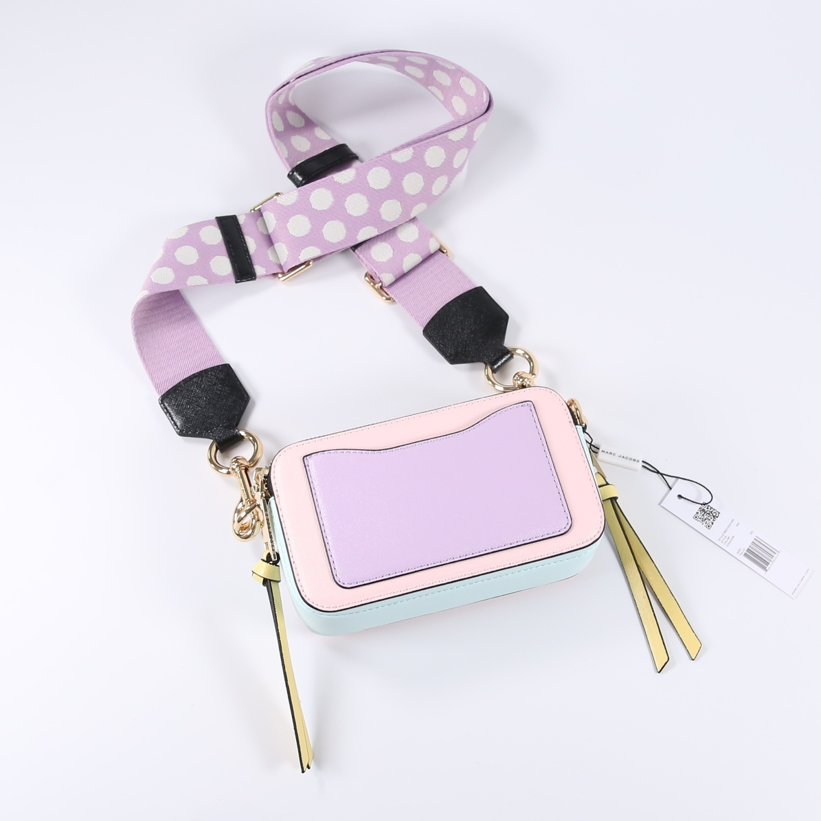 Marc Jacobs Snapshot Small Camera Bag Crossbody Bag Blush Multi Auth