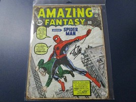 "Spider-Man Metal Poster 11.5"" x 16"" Signed Autographed by Stan Lee with COA - $495.00"