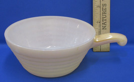 Vintage Fire King Oven Ware Soup Bowl With Handle In Peach Luster #16 USA Made - $7.91