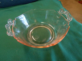 Beautiful L.E.SMITH Depression Glass MT. PLEASANT Double Shield Handled ... - $9.97