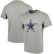 Dallas Cowboys Nike Logo Essential Short Sleeve Dri Fit Gray Tee Adult Large - $24.99