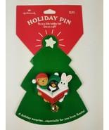Hallmark Holiday Christmas Pin Jingle Bells Animal Carolers Bunny Pengui... - $9.65