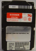 """CONNER - CFN170A 170MB 2.5"""" 19MM Tall IDE 44 pin Hard Drive Tested Good - $19.55"""