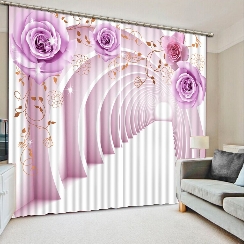 Blackout-Curtains-For-The-Bedroom-Painting-Photo-expand-space-3D-Bedroom-Curtain for sale  USA