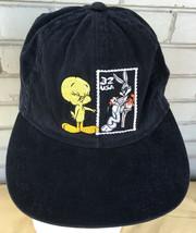 Looney Tunes Postage Stamp Tweety Bugs Bunny Snapback Baseball Cap Hat - $9.15