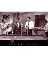Rat Pack Shooting Pool Art Print Poster Poster Print, 36x24  Martin  S... - $24.00