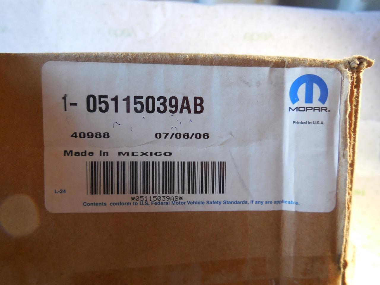 NEW OEM FACTORY MOPAR Dodge Carliber Left Outside Mirror 05115039AA SHIPS TODAY - $73.73