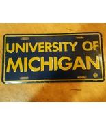 University of Michigan Metal Embossed Front License Plate Car Tag  - $12.86