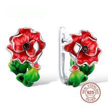 Red Flower Earrings For Women - $71.29+